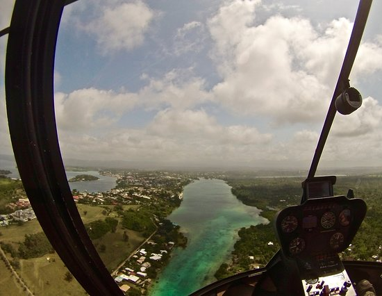 A Taste of Port Vila 7 Minute Scenic Helicopter Tour: 7 - minute tour
