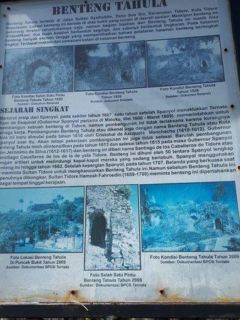 Tidore, Indonesia: Benteng Tahula