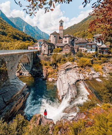 Canton of Ticino, Switzerland: One of the many villages of Switzerland.