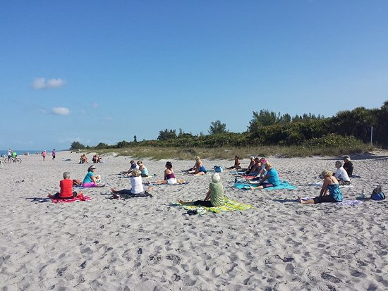 Nokomis Beach Yoga, North Jetty Beach Park