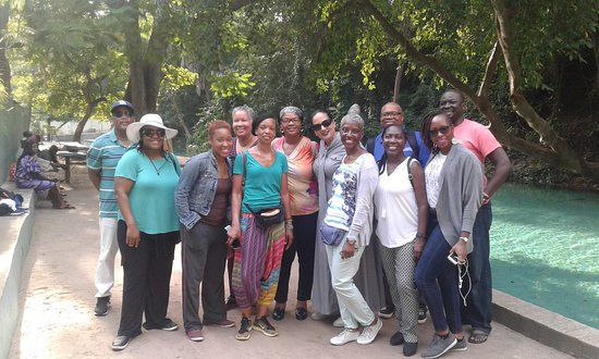 Bauchi, Nigeria: Anago Osho Adventures and a group of African American visitors at the Yankari game reserve