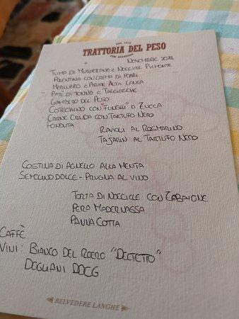 Belvedere Langhe, איטליה: Trattoria del Peso