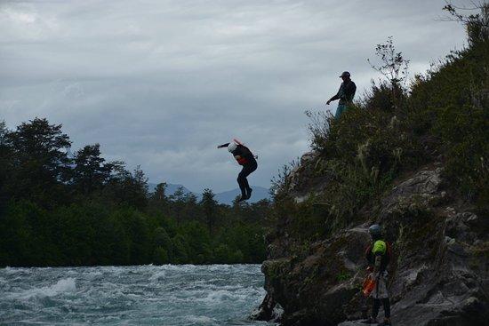 Alsur Expediciones: You get to do a jump into the river (optional)