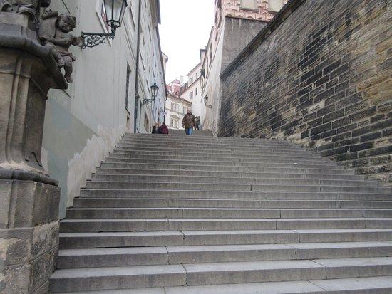 Nerudova Street: Steep Steps