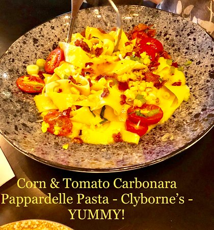The Papparadell pasta stays, but the sauces and combinations are continually changing. All delicious!