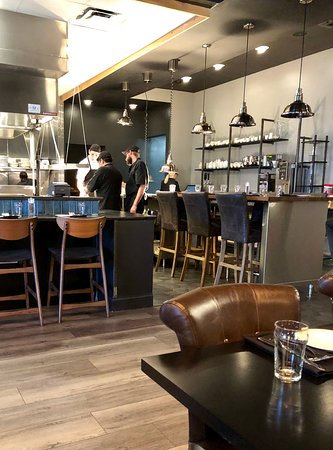 Another view of Clyborne's interior - a fresh, modern take. Yet warm and crisp feeling.