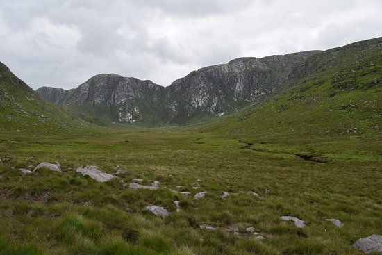 Dunlewey, Ireland: view of the poison glen which is just down the street from house