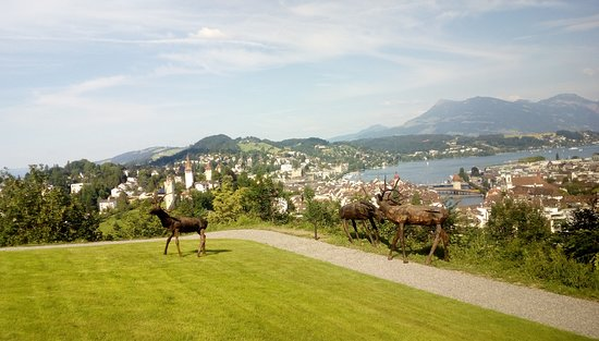 LA Collection'Air Art Park at Chateau Guetsch in Lucerne