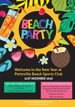 Pottsville, Australia: This NYE is a Beach Party on the Lawn