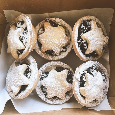 Handmade fruit mince tarts from our kitchen.