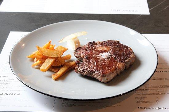Siemianowice Slaskie, Πολωνία: Stek w Restauracja Przekrój