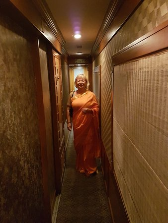 Deccan Odyssey: Dressed with a sari for the last evening