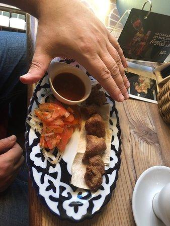 Свиной шашлык ресторана Евразия