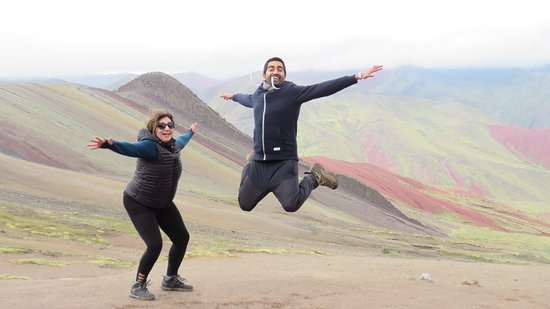 """Palccoyo Rainbow Mountain: Ready for the alternative trek that is not well-known yet!? In comparison to the Vinicunca trek, you will not only see """"one"""" Rainbow Mountain but numerous. Also, you will not be complaining about the 3-hour hike as you only hike about 45 minutes to 1 hour and you will already be rewarded with beautiful views. Most importantly, it is very likely that you will not see a large number of people as you do during the Vinicunca Rainbow Mountain tour. Enjoy this day trip to the Rainbow Mountains!"""