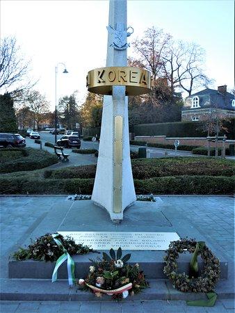 Monument national a la memoire des volontaires belges tues en Coree