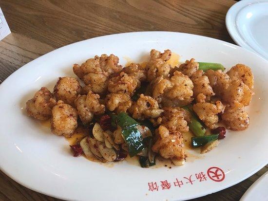 Yangda: Gebratene Riesengarnelen mit Chili (und noch ein paar Sachen)