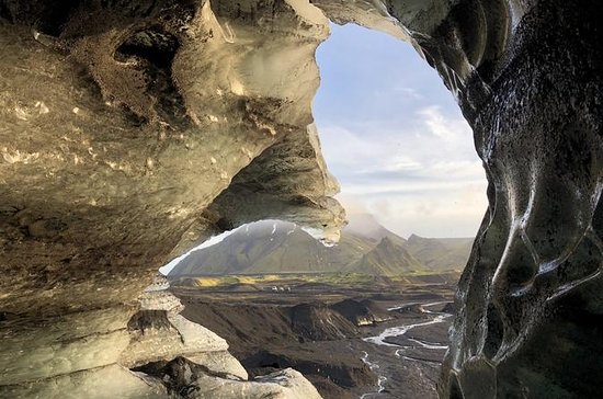 Ice Cave by Katla Volcano from Vik