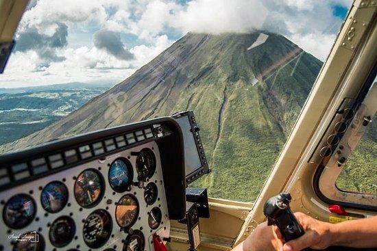 Tour en hélicoptère du volcan Arenal