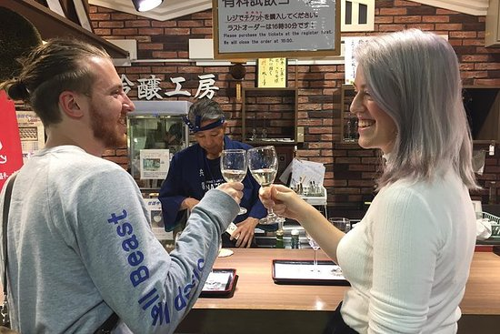 Sake tasting at local breweries Kobe