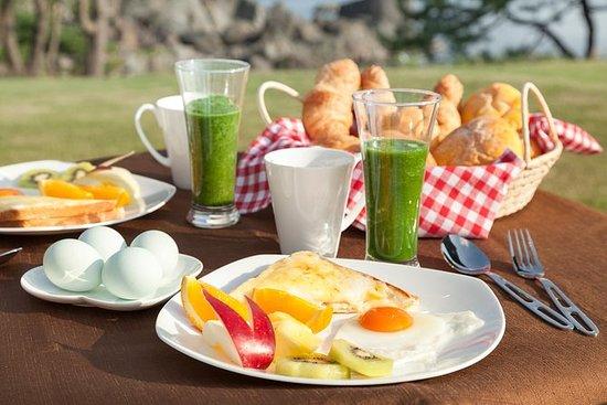 Breakfast at Tanesashi Coastal lawns...