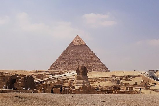 Giza Pyramids, Valley Temple og Sphinx...