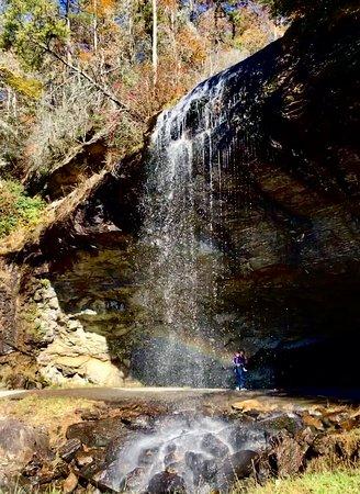 Rainbow captured at Bridal Veil Falls, Highlands, NC