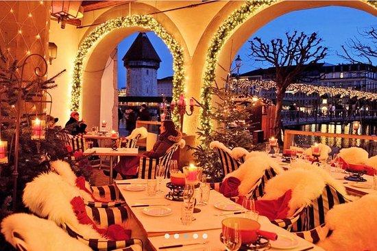 Lucerne Fondue Winter Prazer com Lake...