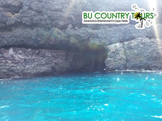Ribeira da Barca, Kape Verde: At the entrance of the grotto of the beautiful waters!!!
