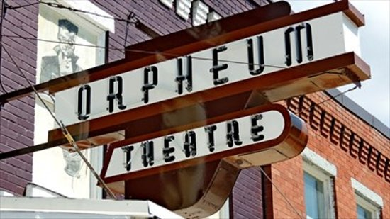 Authentic Neon Sign for the Crowsnest Orpheum Theatre in Blairmore, Alberta.