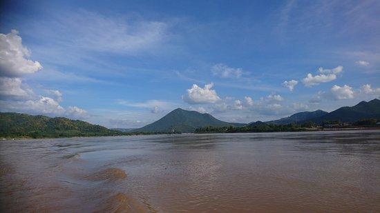 Chiang Khan, Thailand: Blick flussabwärts