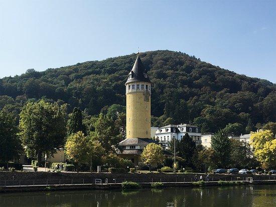 Bad Ems, Germany: Das Wahrzeichen am Lahnufer.
