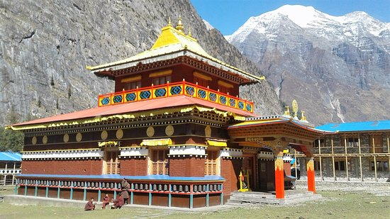 monastery in humuing   base camp in Manaslu trek