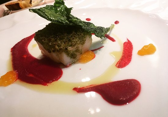Bye Bye Blues: Local fish, perfectly cooked of course, with beetroot.