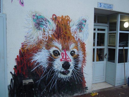Fresque Le Panda Roux