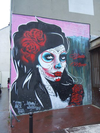 Fresque Santa Muerte