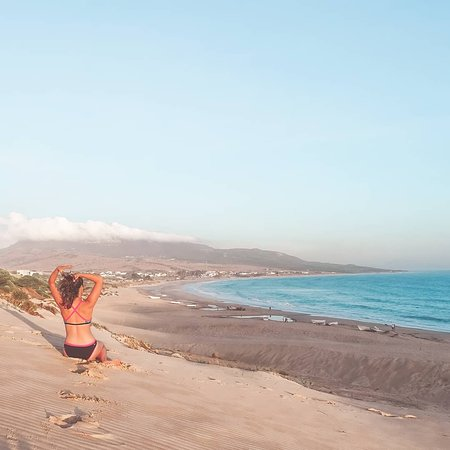 Costa de la Luz, España: View of Bolonia Beach from the top of the dune. Breathtaking ;)