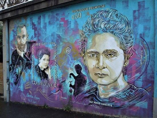 Fresque Pierre et Marie Curie