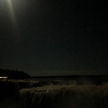 Full Moon Walk at Iguazu Falls ภาพถ่าย