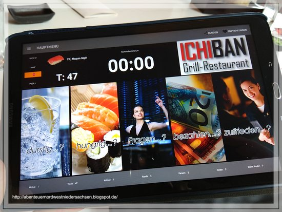 sushi modern interpretiert foto van ichiban sushi grill restaurant osnabr ck tripadvisor. Black Bedroom Furniture Sets. Home Design Ideas