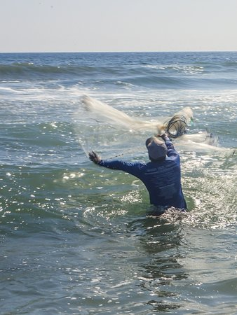 Casting his net