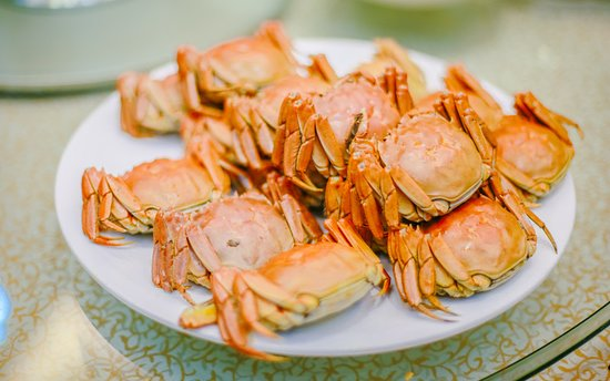 Dongying, Kina: local specialty:Chinese mitten crabs