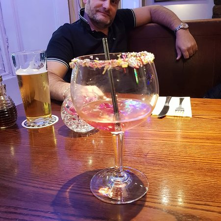 Lovely meal, shame about the rip off cocktail.