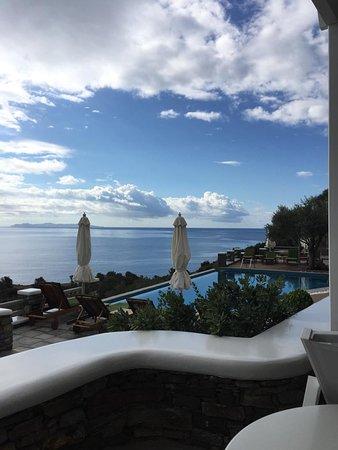 Chrisopigi, اليونان: View from room!!!