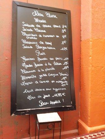 Restaurant Cote Sud: La Carte