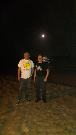 Gava Mar beach at night