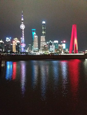 View from The Bund at night