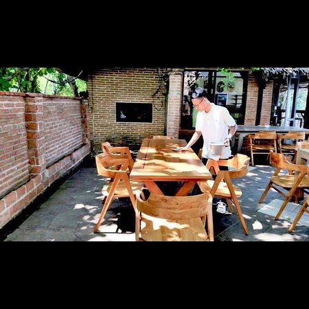 Behind the scene at YAM YAM Thai & Western Restaurant Jepara Indonesia