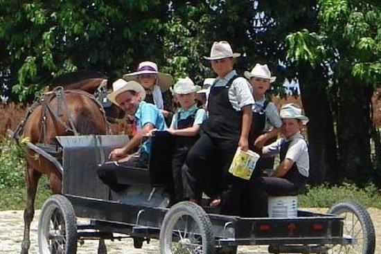 Maya-Dorf und Mennoniten der Barton...
