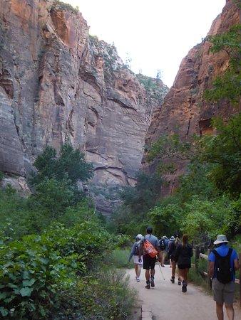 Temple of Sinawava Trail: Lätt vandring