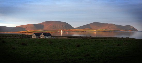 Kirkwall, UK: View of the Hills of Hoy from Stenness